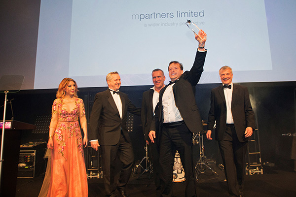 MPL Management Team collecting Chartered Institute of Marketing Award, Grosvenor, London